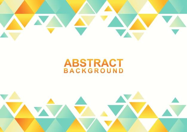 Абстрактный геометрический фон с треугольником. абстрактный современный красочный шаблон дизайна