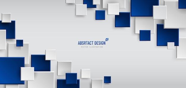 白、灰色、紺色の抽象的な幾何学的な背景。モダンでミニマルなコンセプト。