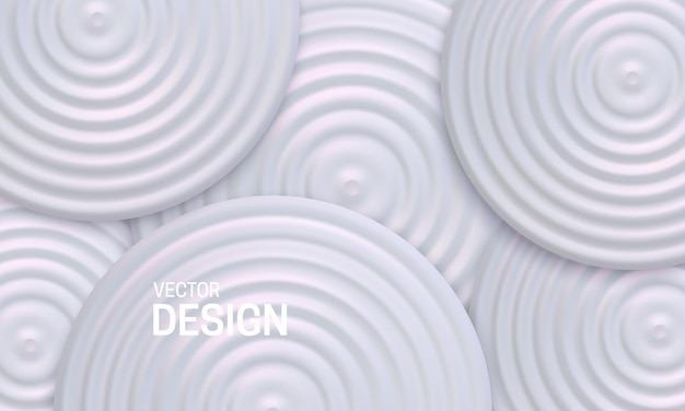 Abstract geometric background with white pearlescent shapes