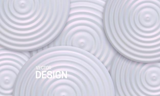 Абстрактный геометрический фон с белыми перламутровыми формами