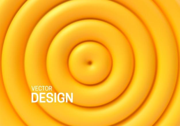 Абстрактный геометрический фон с желтыми концентрическими формами Premium векторы