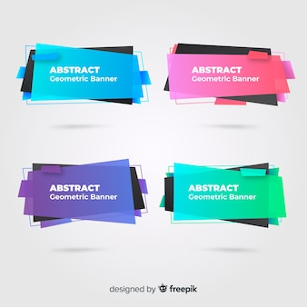 Abstract geometric banner collectio