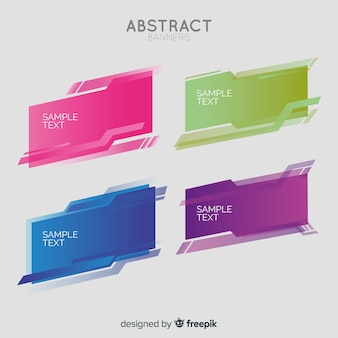 Abstract geometric banner collection