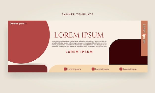 Abstract geometric banner design templates