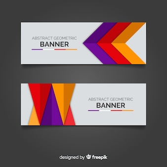 Abstract geometric banner template