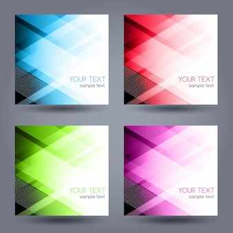Abstract geometric banner with triangle