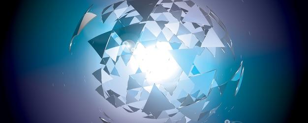 Абстрактный геометрический баннер