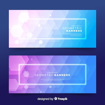 Abstract geometric banners