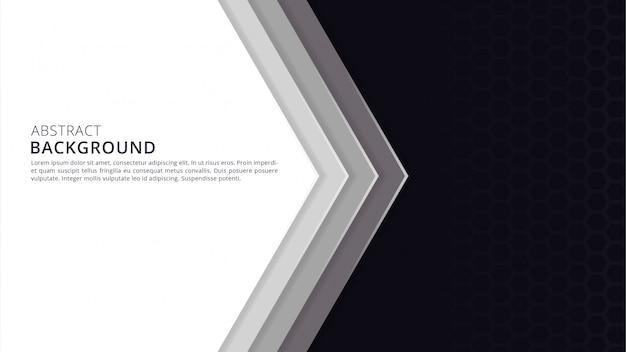 Abstract geometric beautiful papercut background design