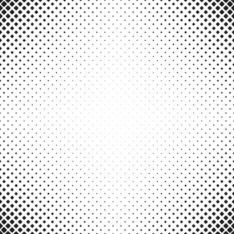 抽象的な幾何学的な黒と白の丸い四角形のパターンの背景 - 対角線の四角形のベクトル図