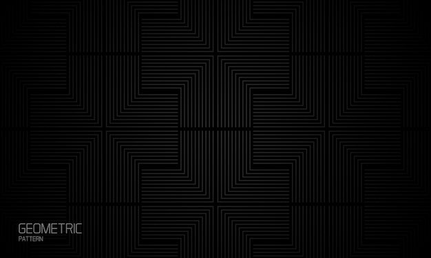 Abstract geometric black background webbed composition