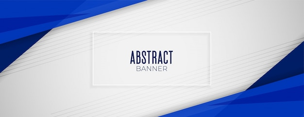 Abstract geometric blue wide background banner layout design