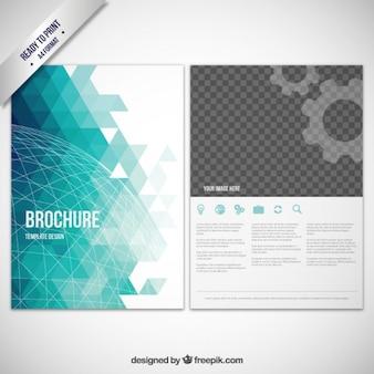 Abstract geometric brochure Free Vector