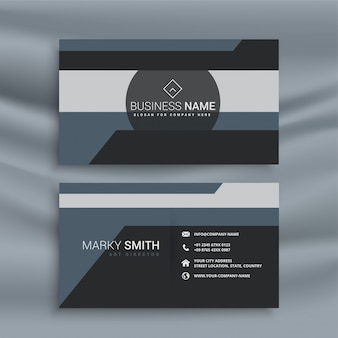 Abstract geometric business card in dark theme