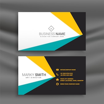 Abstract geometric business card layout template