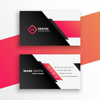 Abstract geometric business card modern template