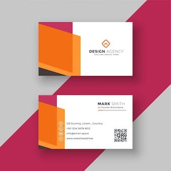 Абстрактный геометрический дизайн визитной карточки профессиональный