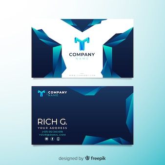 Abstract geometric business card template collection