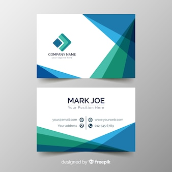 Abstract geometric business card template