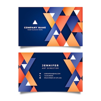 Abstract geometric business card
