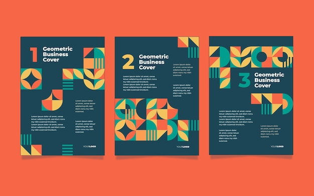 Abstract geometric business cover assortment