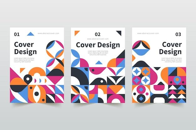 Collezione di copertine di affari geometrici astratti