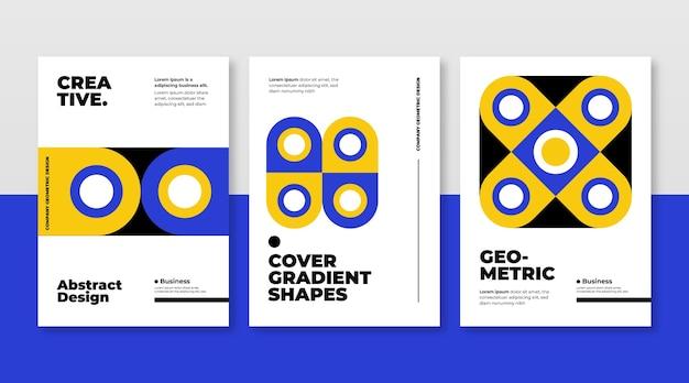 Коллекция абстрактных геометрических бизнес-обложек