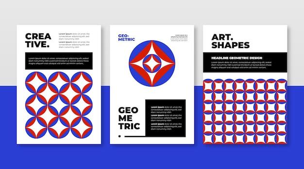 抽象的な幾何学的なビジネスカバーコレクション