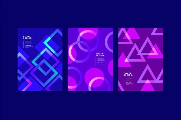 추상적 인 기하학적 비즈니스 커버 컬렉션