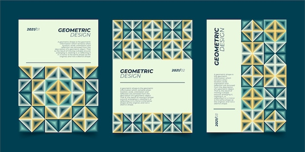 Abstract geometric business cover collection