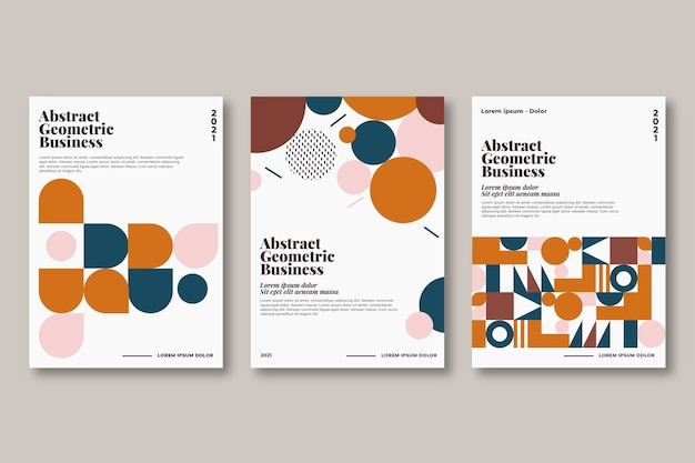Abstract geometric business cover pack