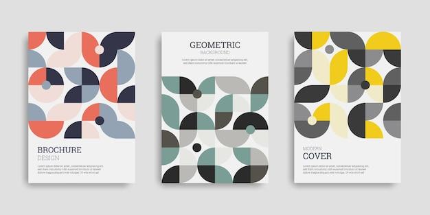 抽象的な幾何学的なビジネスカバーセット