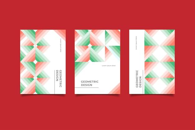 Абстрактные геометрические бизнес обложка Premium векторы