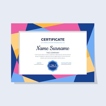 Abstract geometric certificate concept