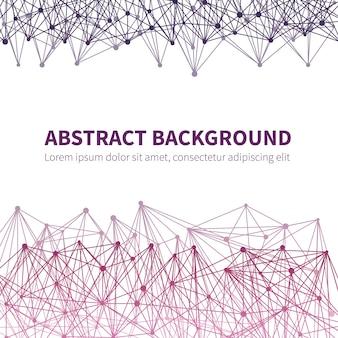 Абстрактный геометрический химический научный фон вектор с красочной молекулярной структурой