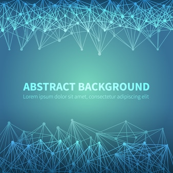 Abstract geometric chemical scientific vector background with molecular structure