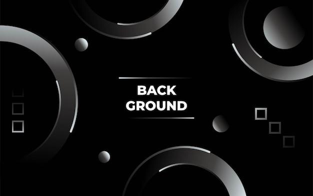 추상적인 기하학적 원형 검은 배경 배너 디자인입니다.