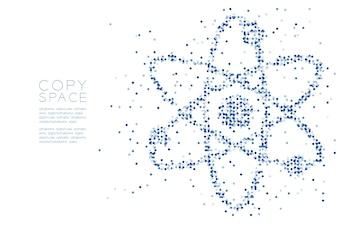 Abstract Geometric Circle dot pattern Atom symbol shape
