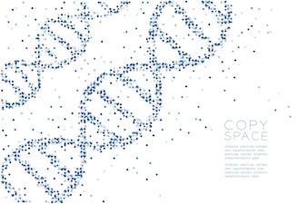 Abstract Geometric Circle dot pattern DNA shape