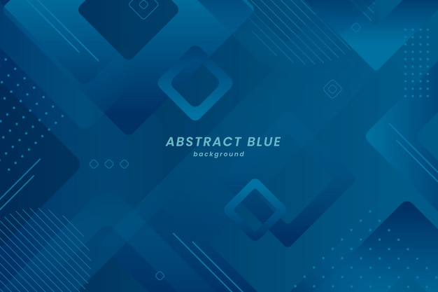 Abstract geometric classic blue background