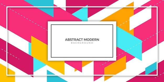 Abstract geometric colorful banner background