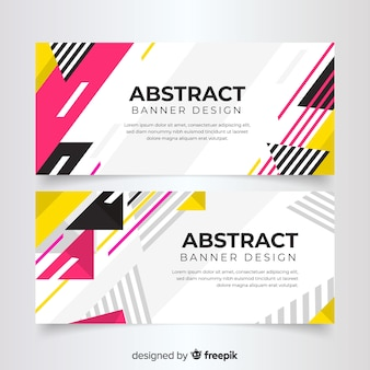 Abstract geometric colorful banner template