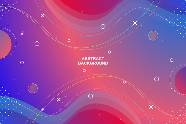 Abstract geometric colorful gradient background
