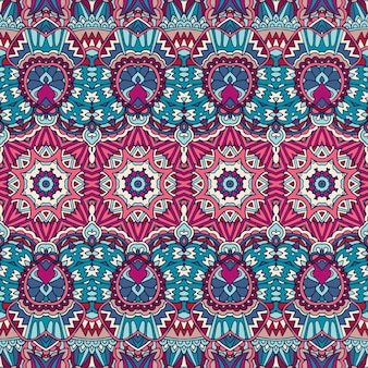 装飾的な抽象的な幾何学的なカラフルなシームレスパターン