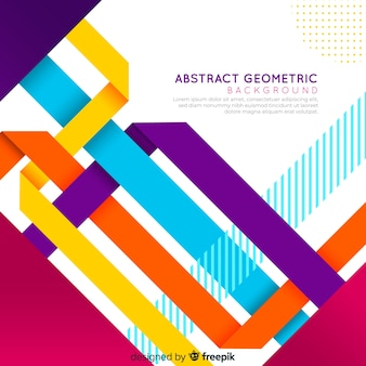 Abstract geometric colorful