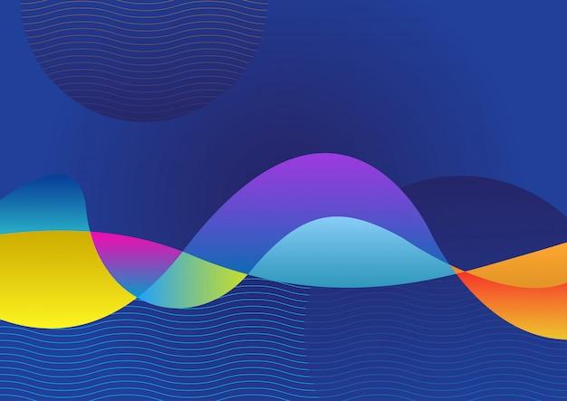 ラインと抽象的な幾何学的な色の背景