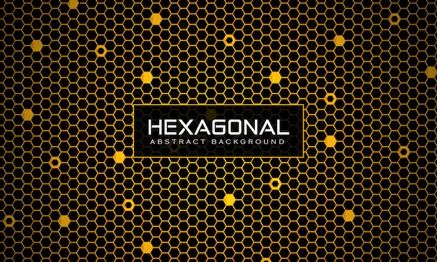 Abstract geometric connected hexagonal pattern seamless background