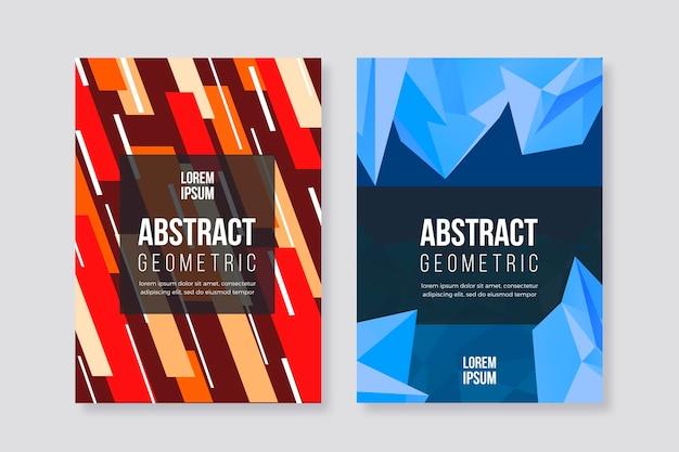 Концепция коллекции абстрактных геометрических обложки