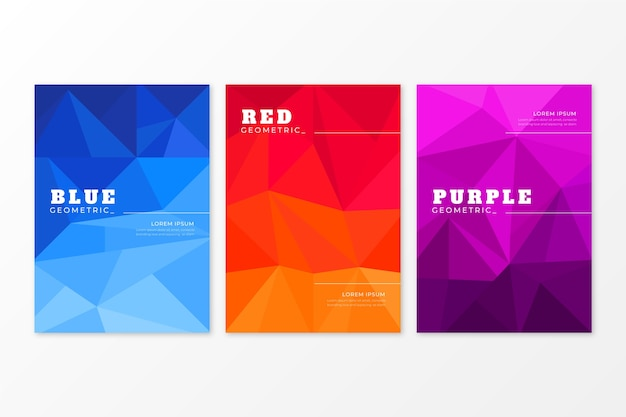 Abstract geometric cover collection design