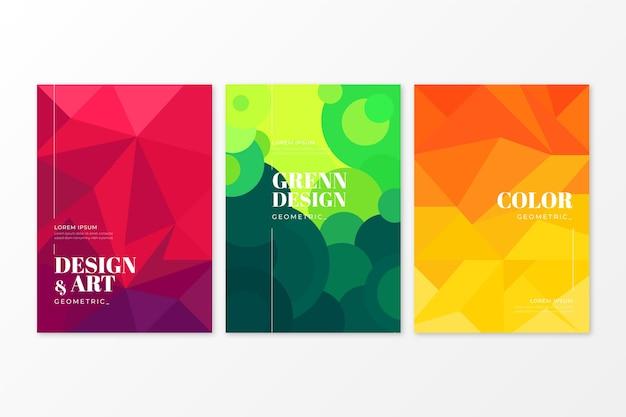 Стиль коллекции абстрактных геометрических обложки